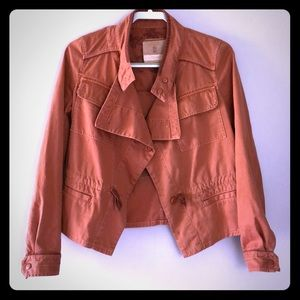 Anthro Hei Hei Dusty Red Cotton Boxy Jacket XS